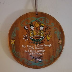 Vintage home wall hanging